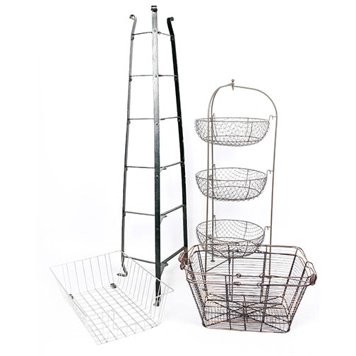 Collection of Display Stands and Baskets