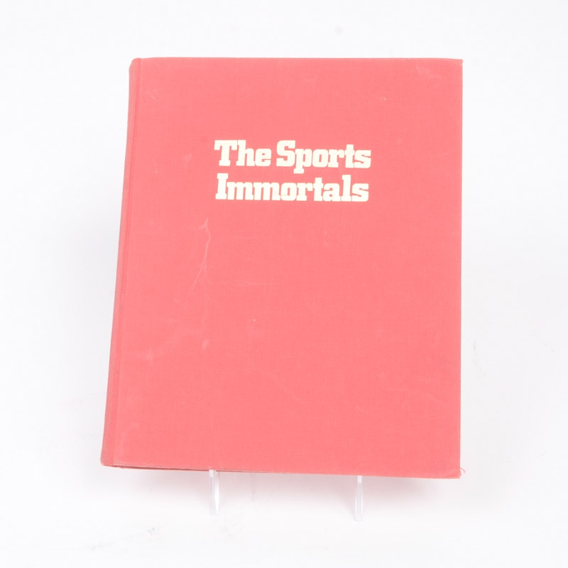 """1972 Edition of """"The Sports Immortals"""" Signed by Bobby Orr"""