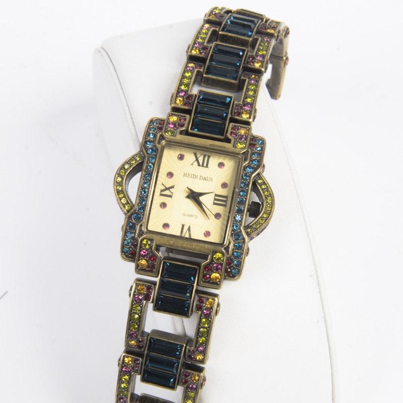Heidi Daus Rhinestone Wristwatch