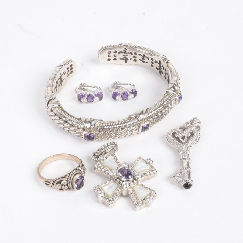 Sterling Silver Jewelry With Amethyst