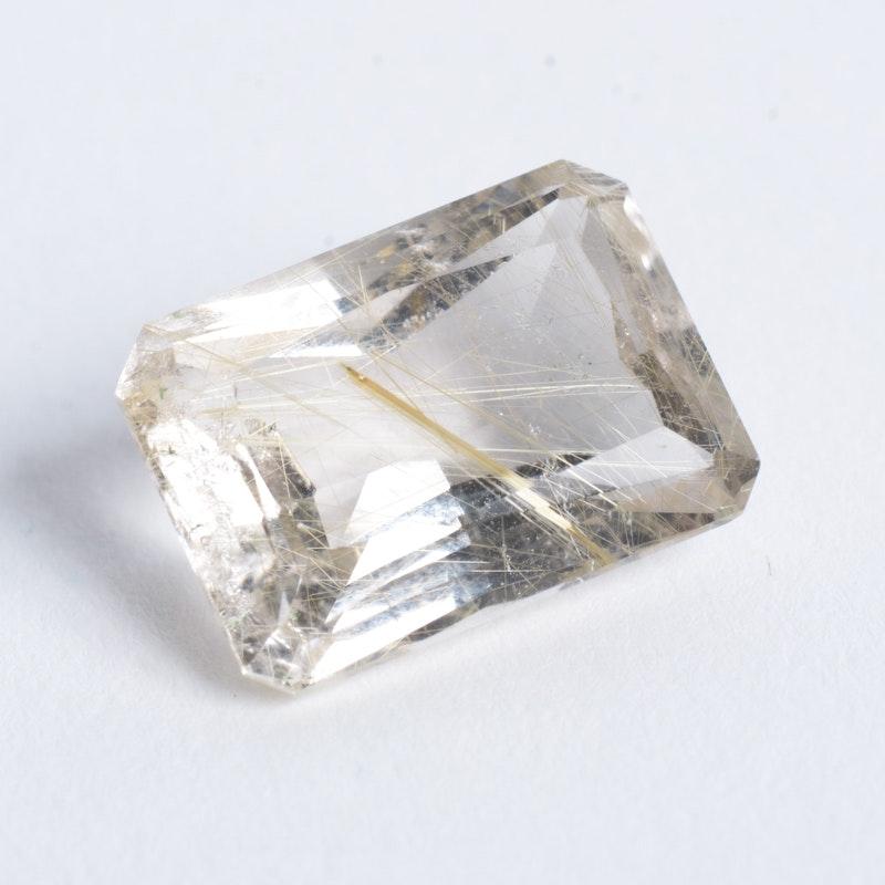 14.99 CTS Loose Rutilated Quartz Stone