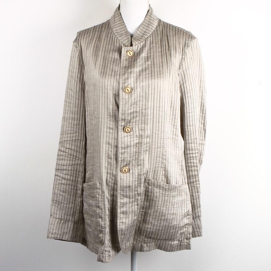 5cd7daa0477d Women's Armani Collezioni Striped Jacket : EBTH