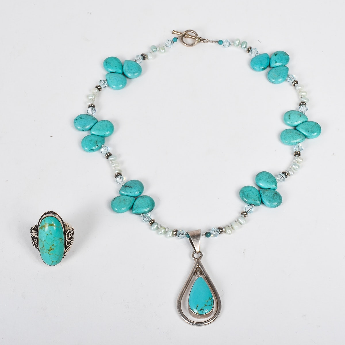 Sterling Silver and Dyed Howlite Jewelry Collection