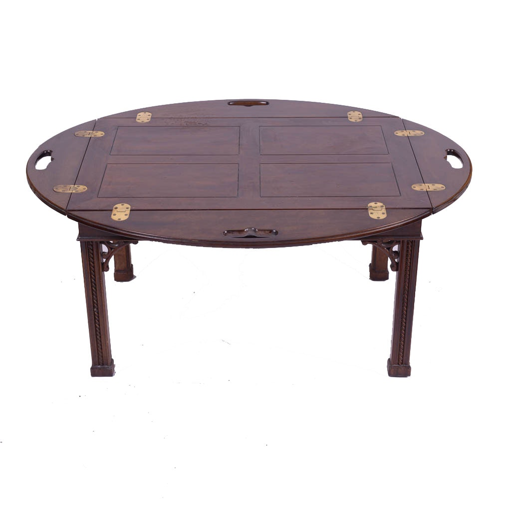 Vintage Walnut Butler's Tray Coffee Table