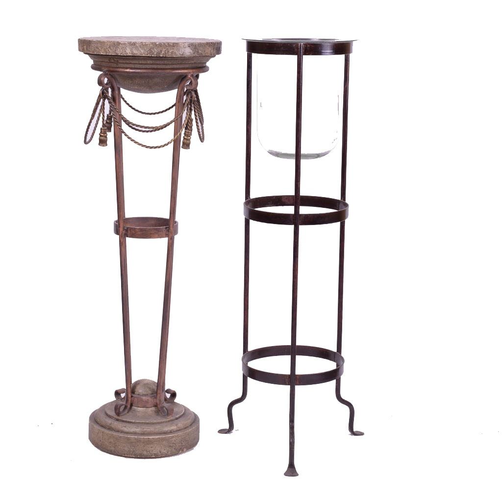 Pair of Decorative Plant Stands