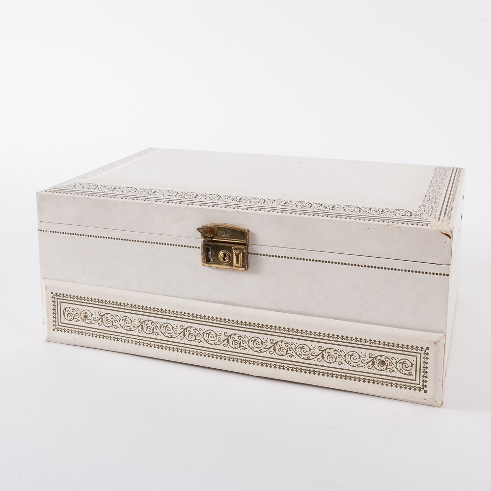 Vintage Three Tier Jewelry Box