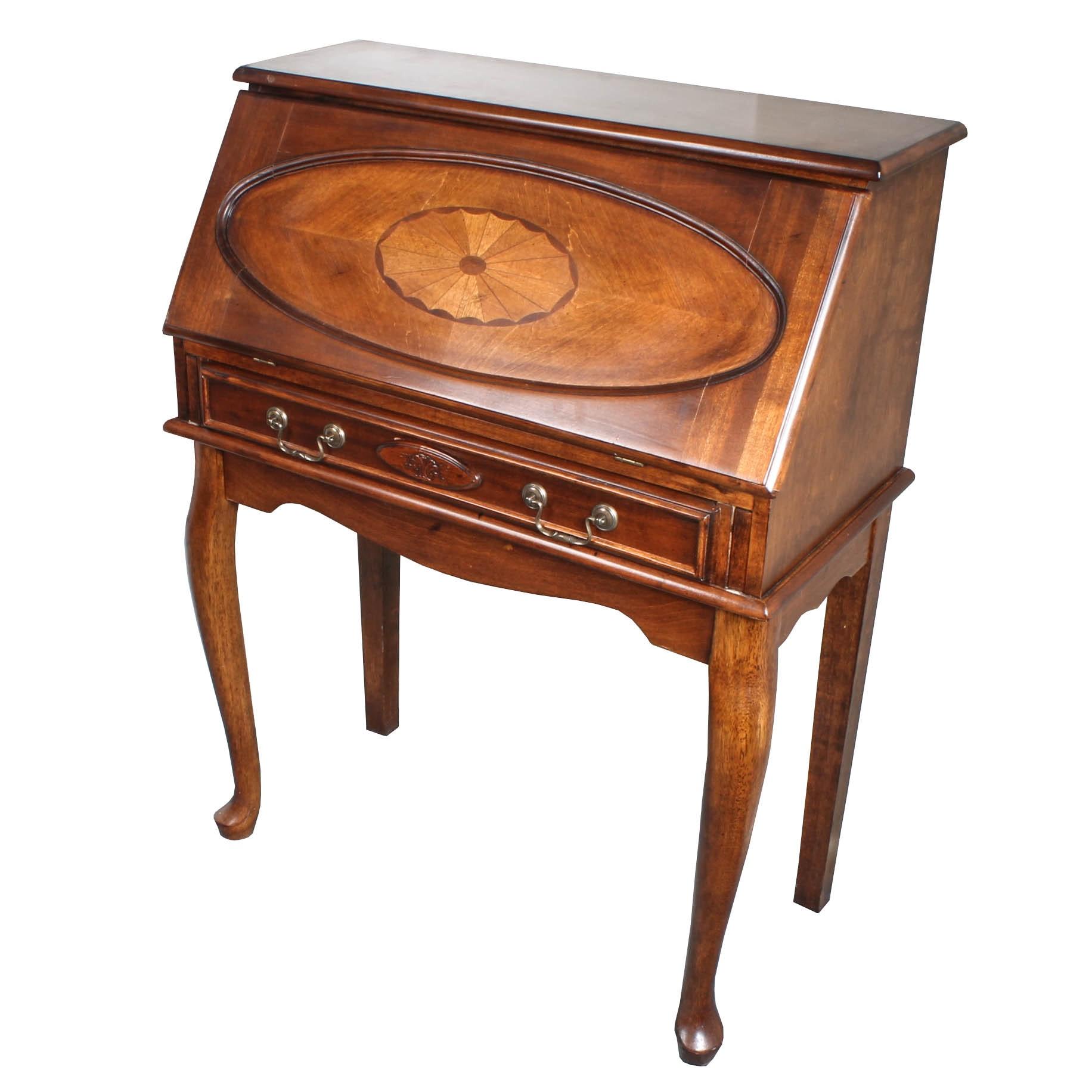 Federal Style Cherry Secretary Desk By Ashley Ebth