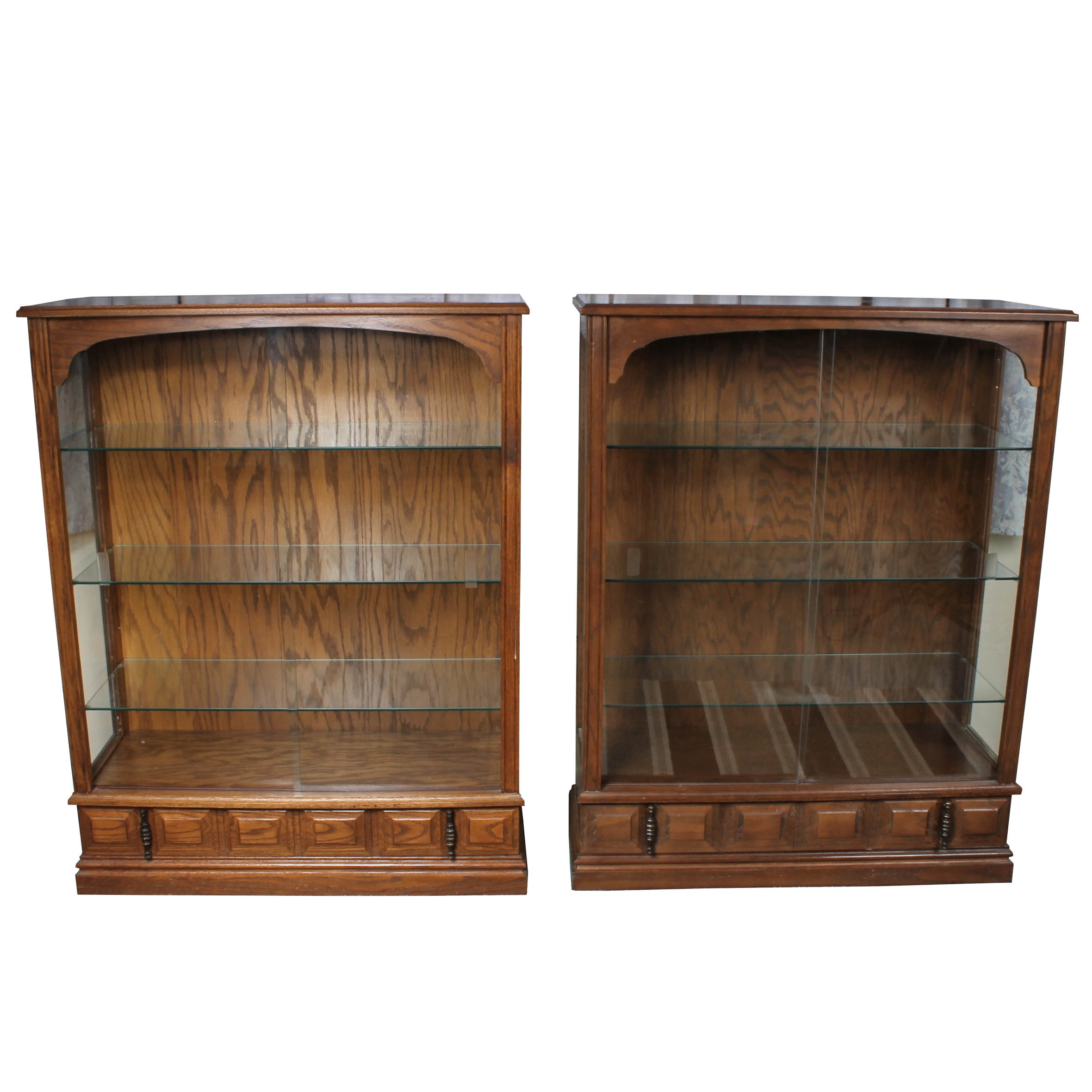 Pair of Matching Display Cabinets