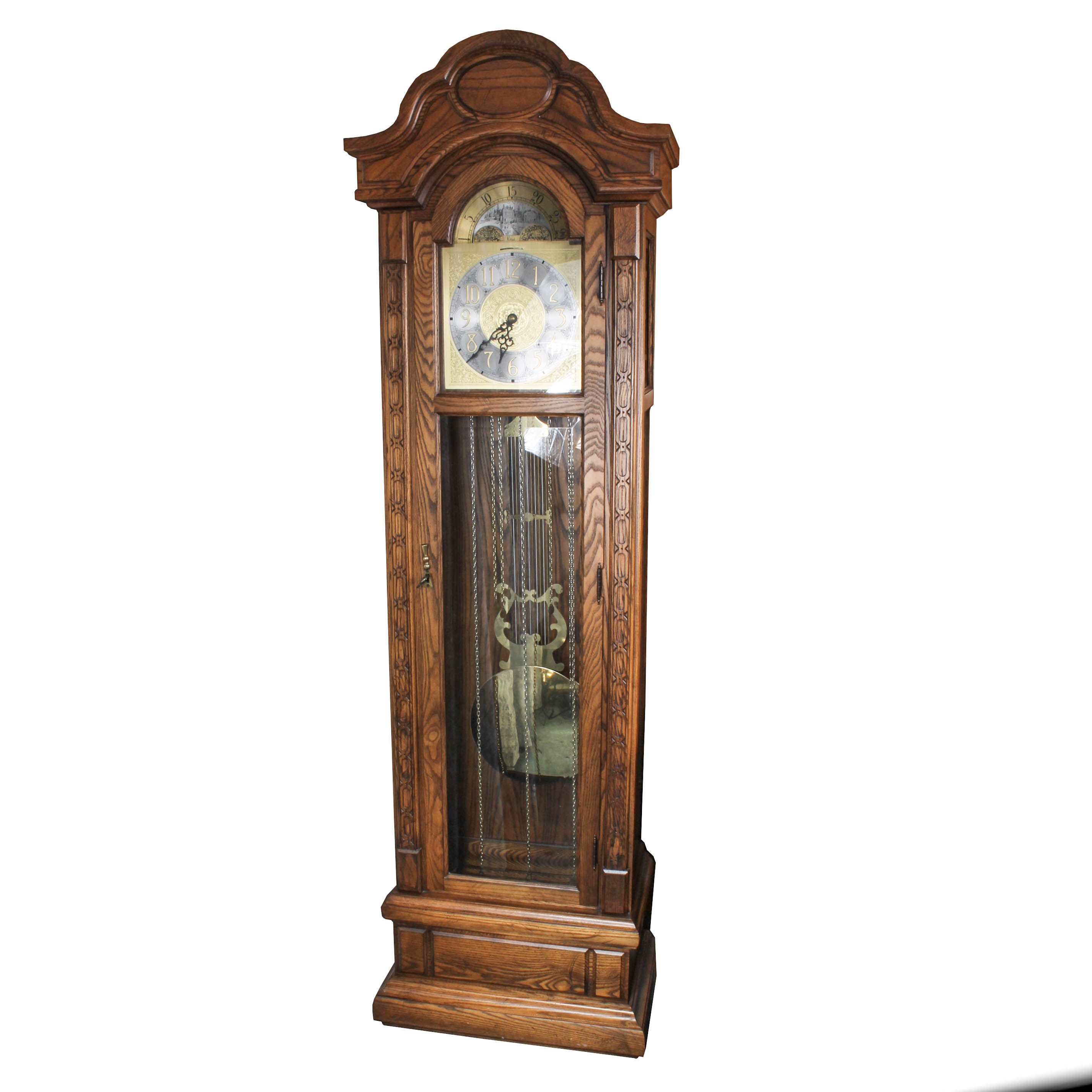 Colonial Wood Grandfather Clock