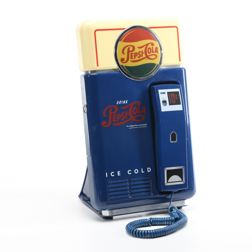 Vintage Pepsi Cola Vending Machine Theme Wall Telephone Ebth