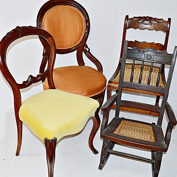 Five Antique Chairs