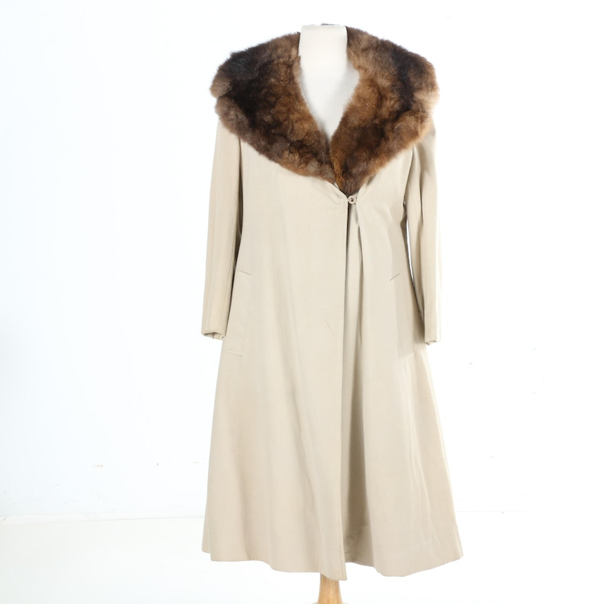 22ac140ae7b9 Rabbit Fur Lined Trench Coat   EBTH