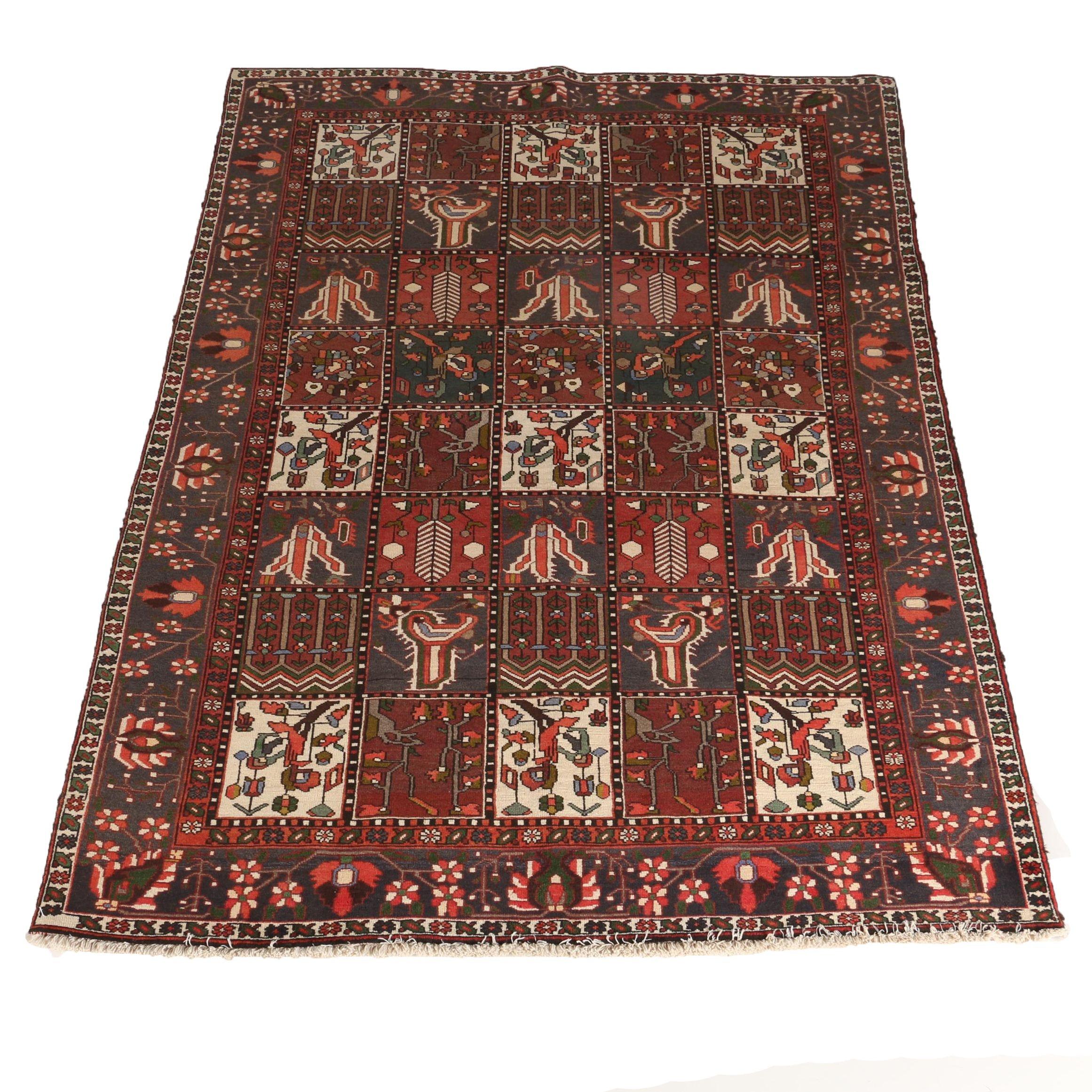 "Hand-Knotted Persian Bakhtiari ""Garden"" Rug"