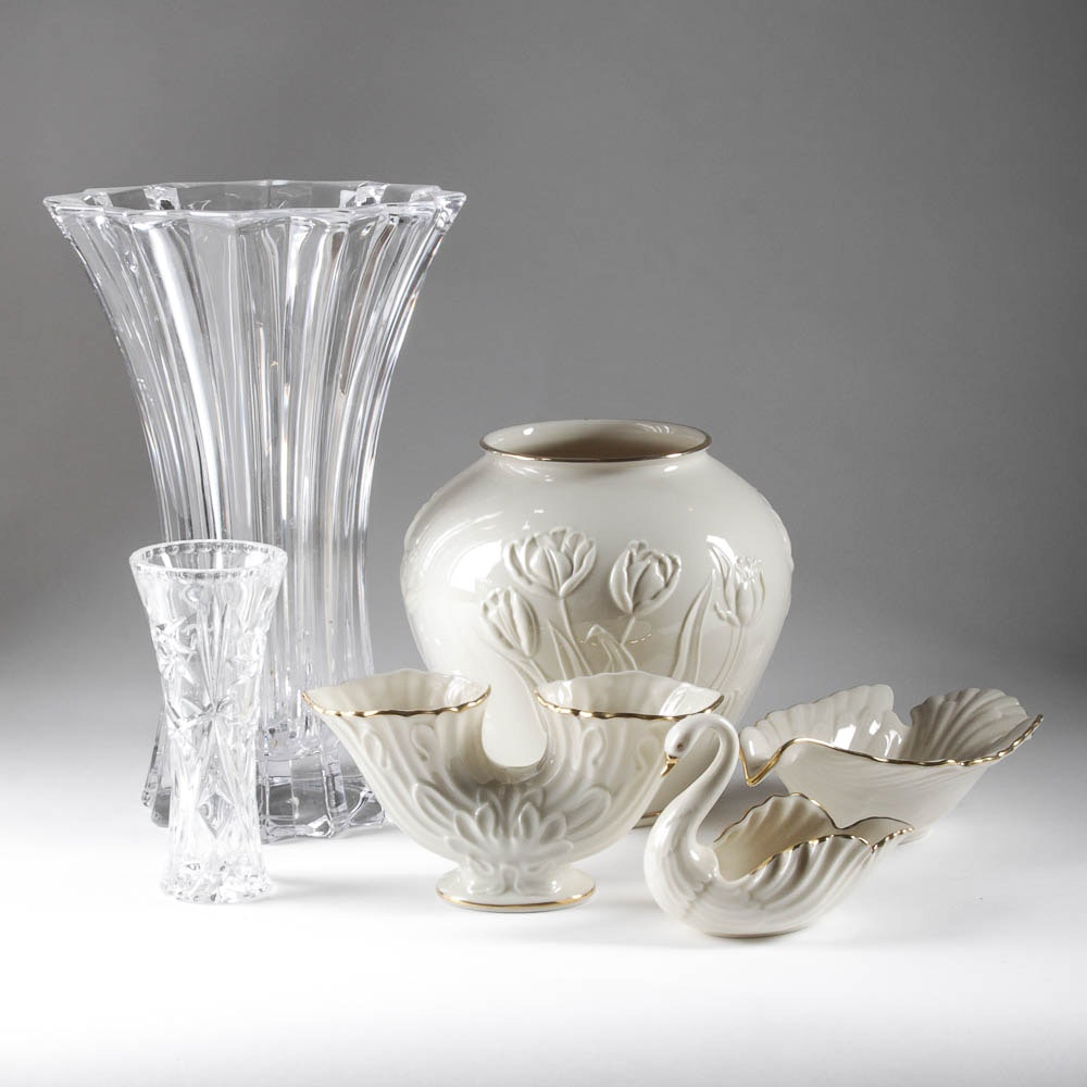 China and Crystal Vases by Lenox