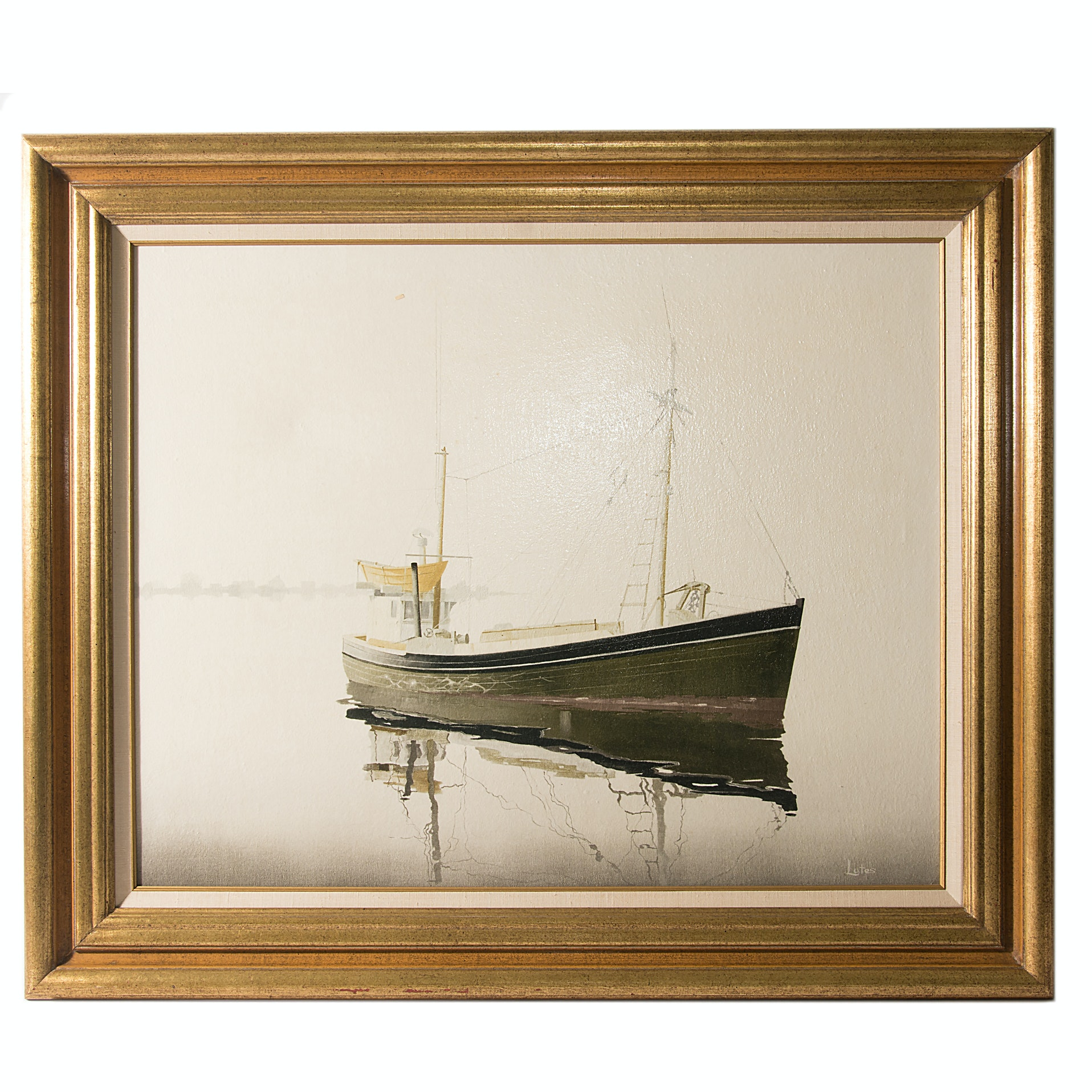 "John D. Lutes Oil on Canvas ""Jerry Jimmy"""