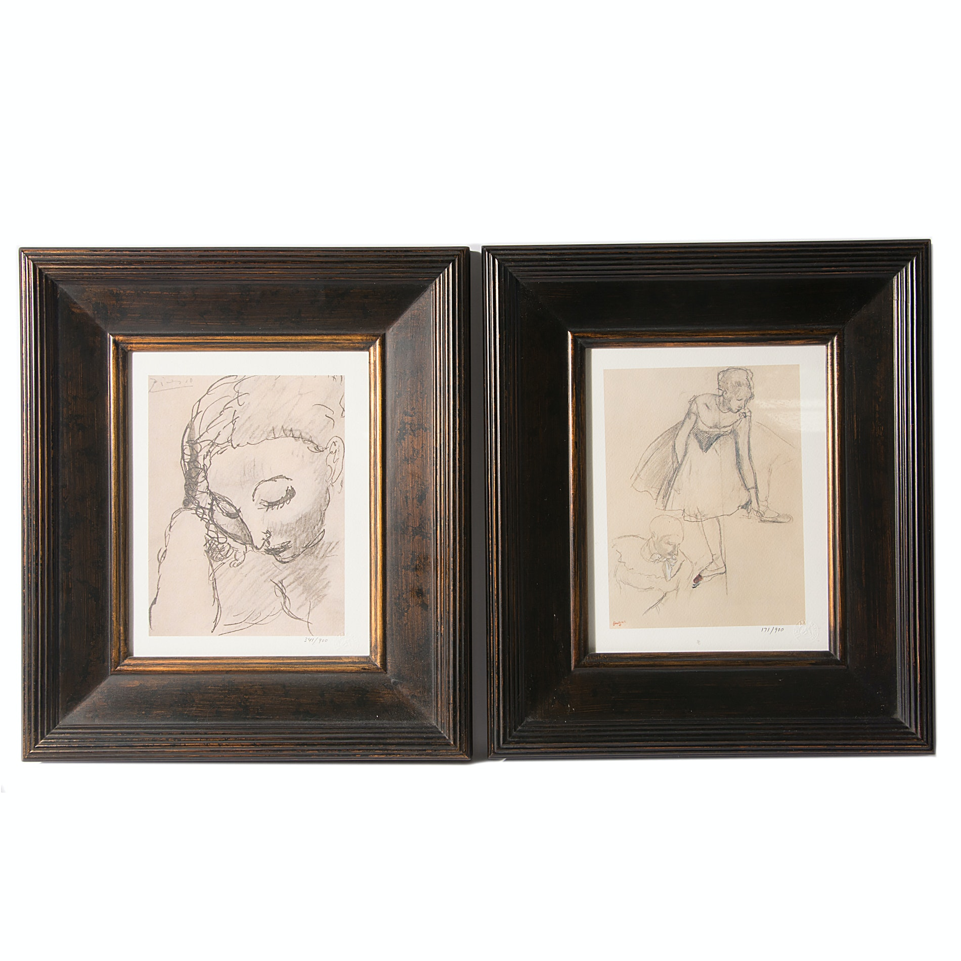 Pair of Giclees After Picasso and Degas