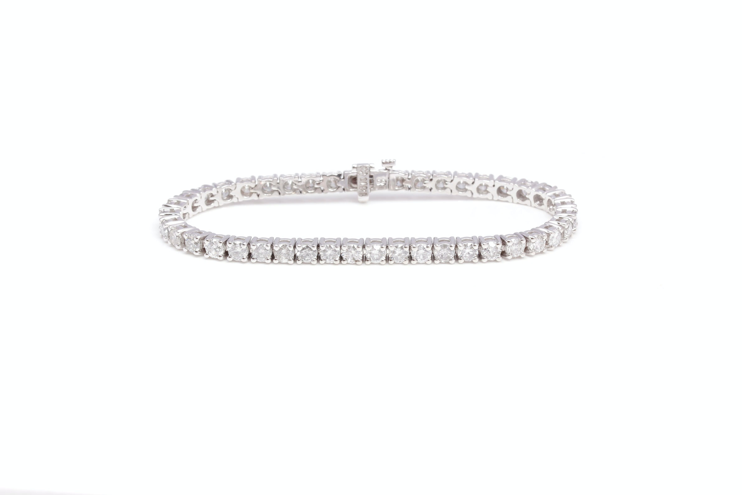 14K White Gold 8.27 CTW Diamond Bracelet