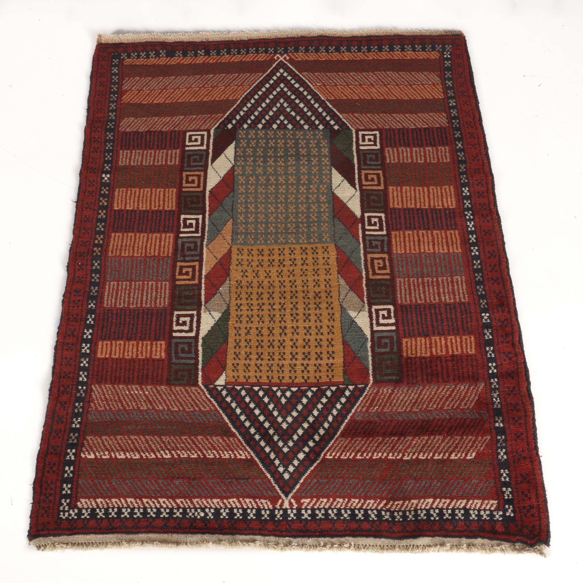 Hand-Knotted Persian Kurdi Area Rug