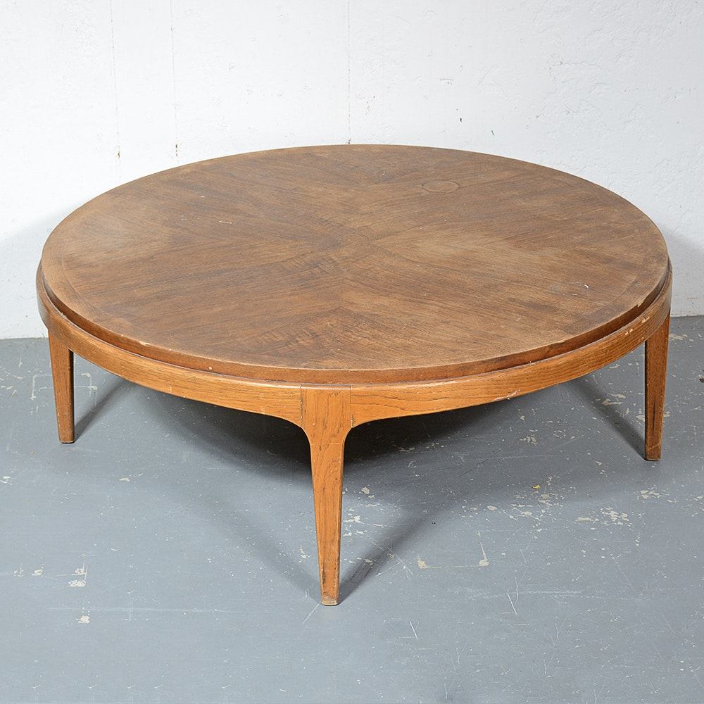 "1960s Mid Century Modern Lane ""Rhythm"" Walnut Coffee Table"