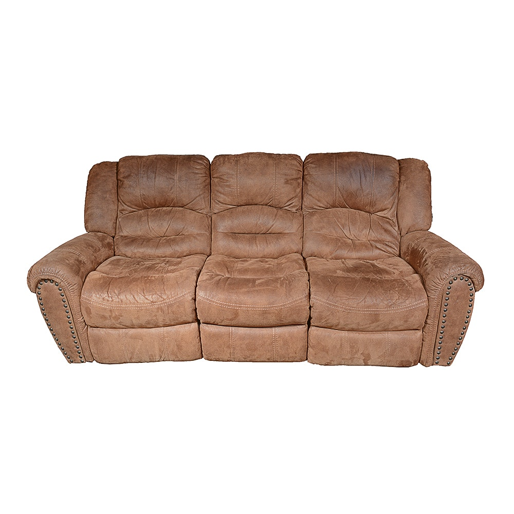 Upholstered Sofa With Reclining Seats