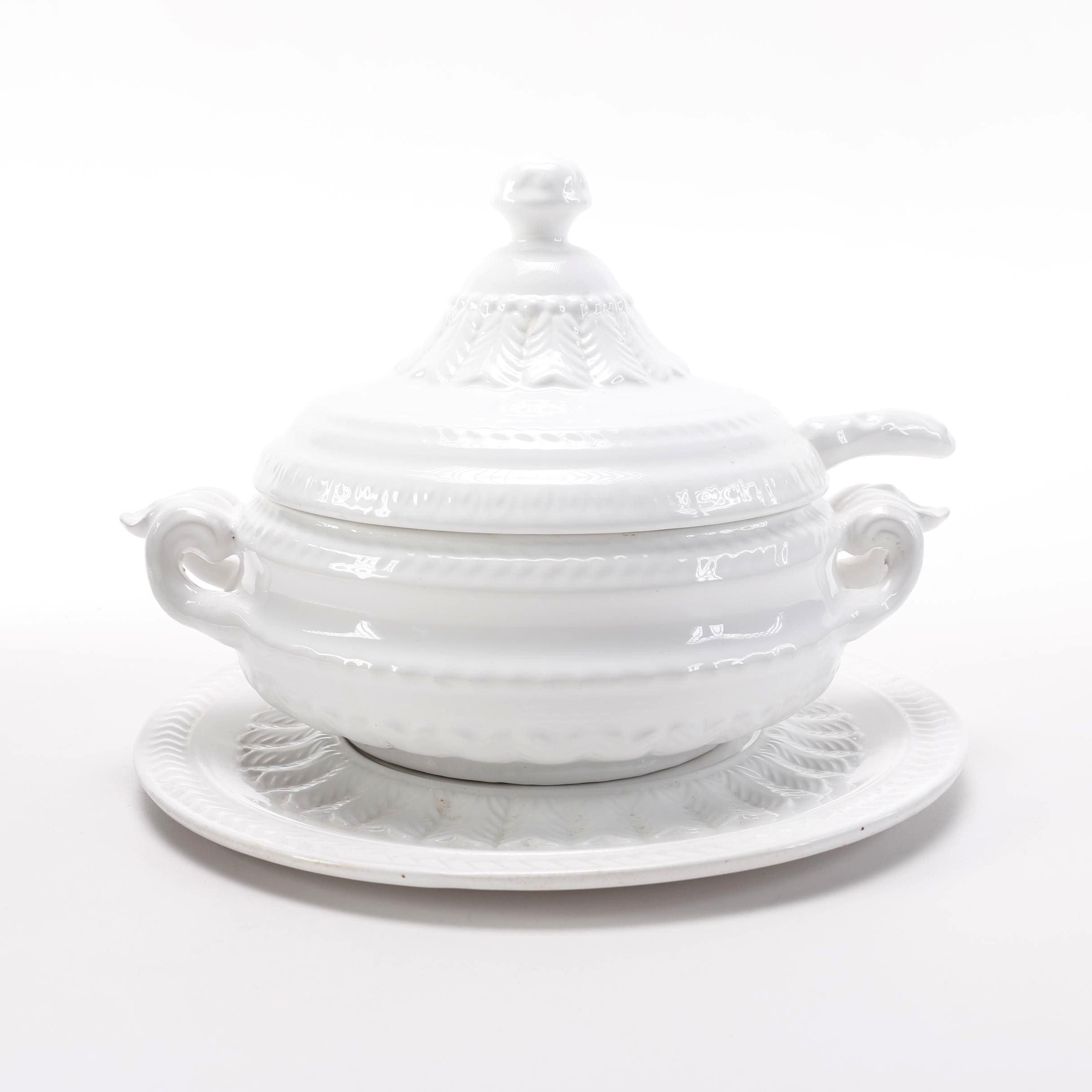 Portuguese Ceramic Soup Tureen Ebth
