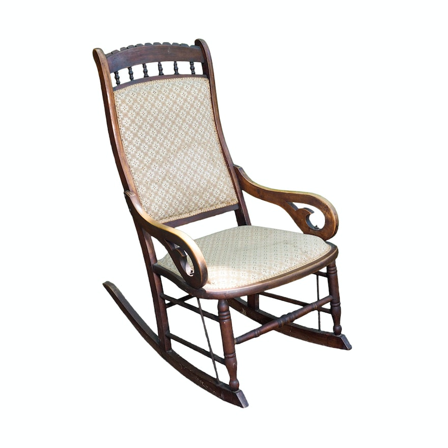 Antique Lincoln Style Rocking Chair Ebth