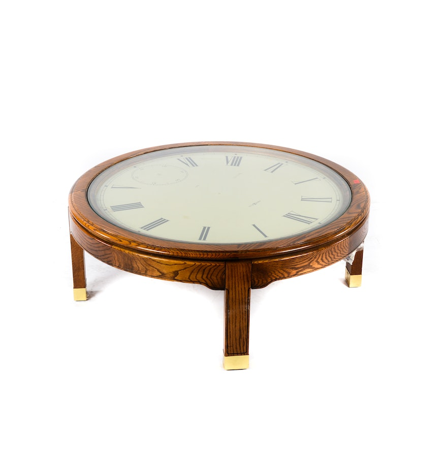 Howard miller clock coffee table ebth Coffee table with clock
