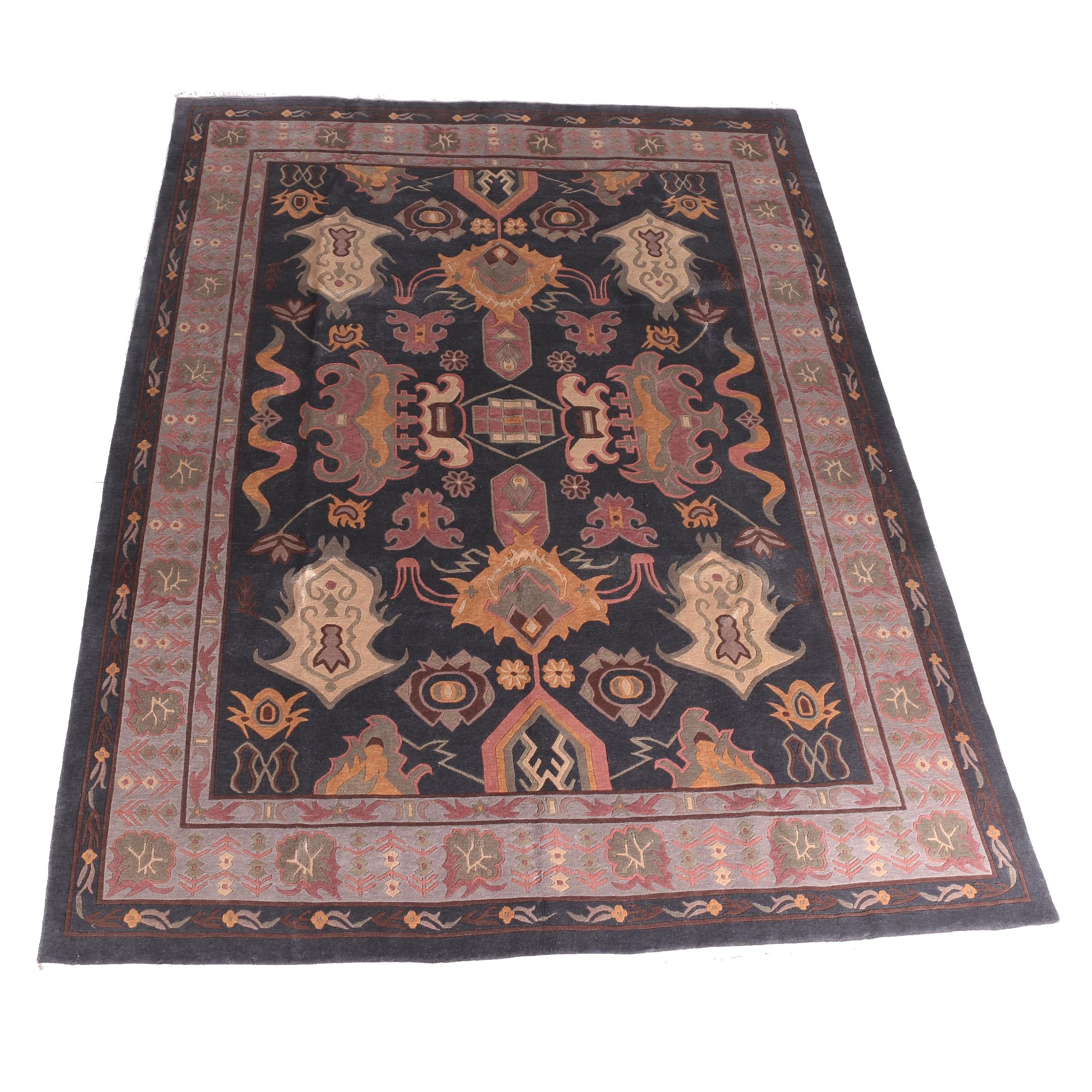 "Hand-Knotted Nepalese ""Heriz"" Area Rug"