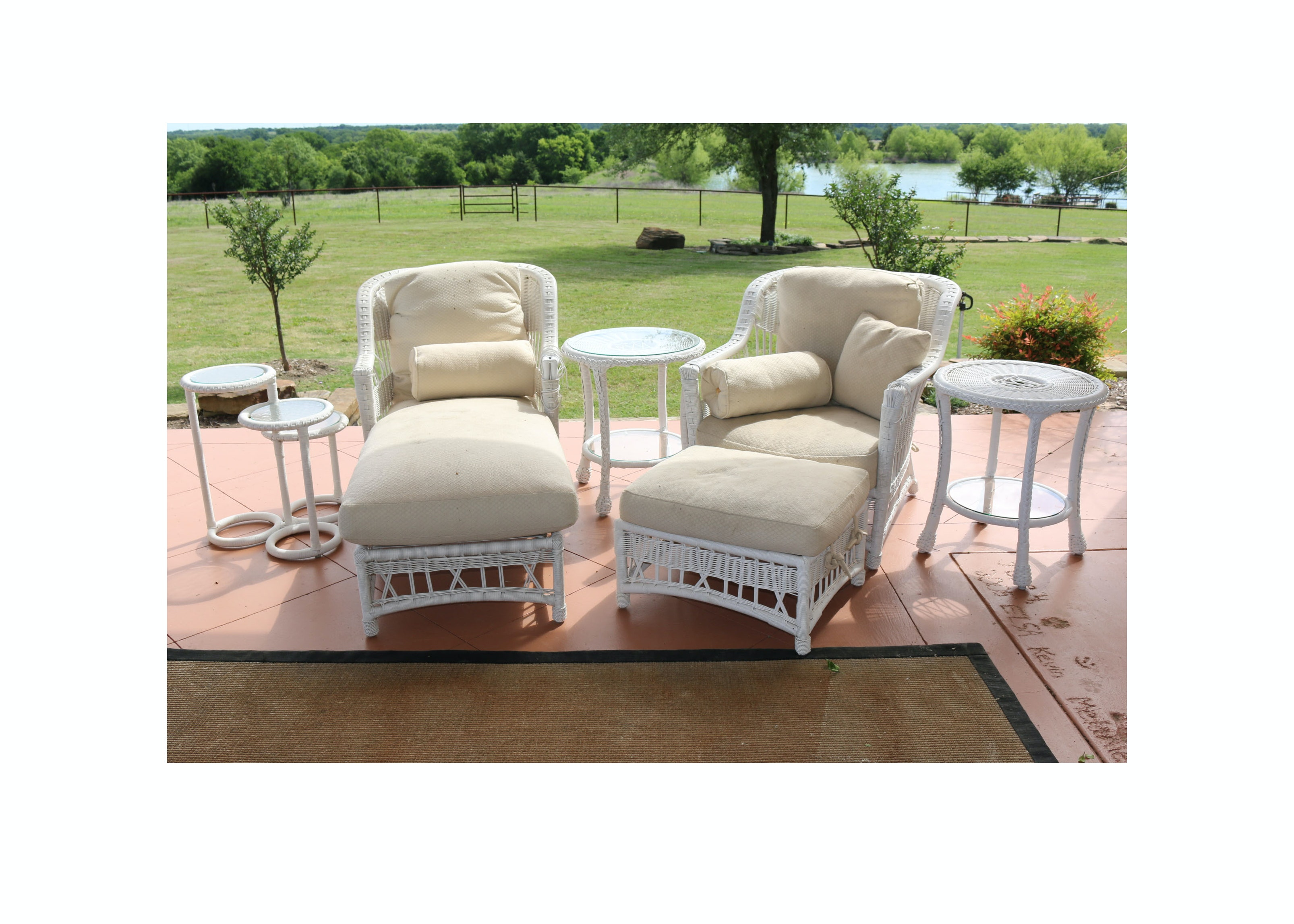 Faux-Wicker Patio Furniture