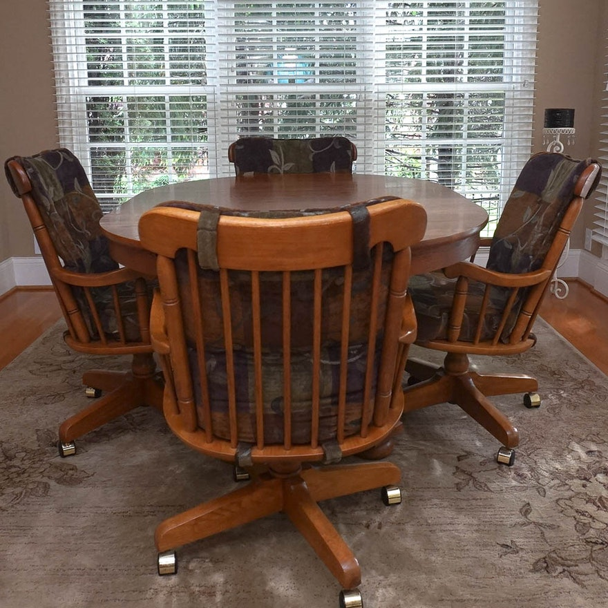 Oak Dining Table With Chairs By Keller