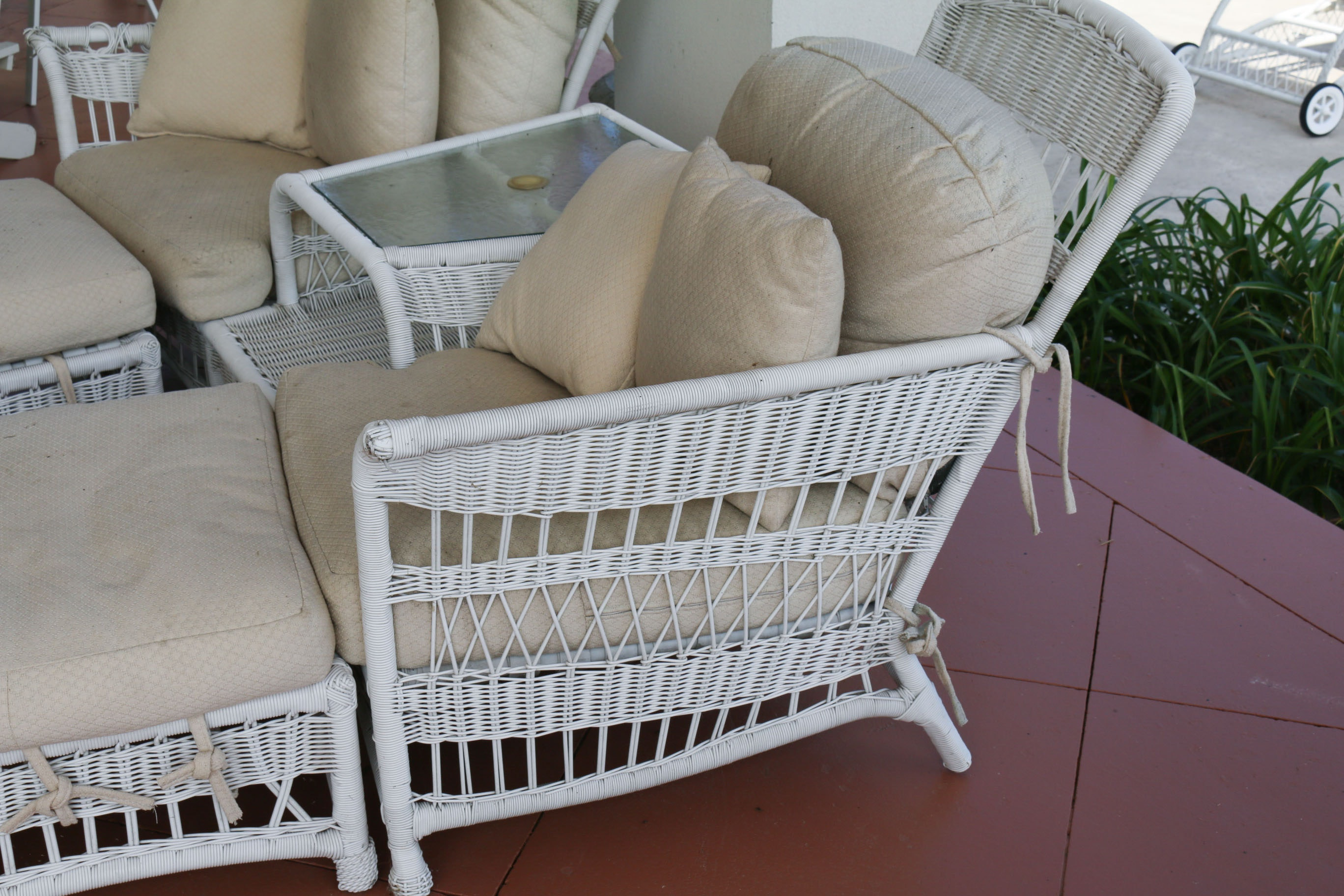 faux wicker patio furniture ebth