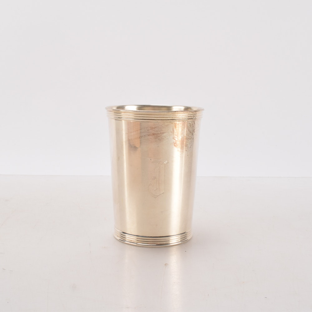Sterling Silver Monogrammed Mint Julep Cup