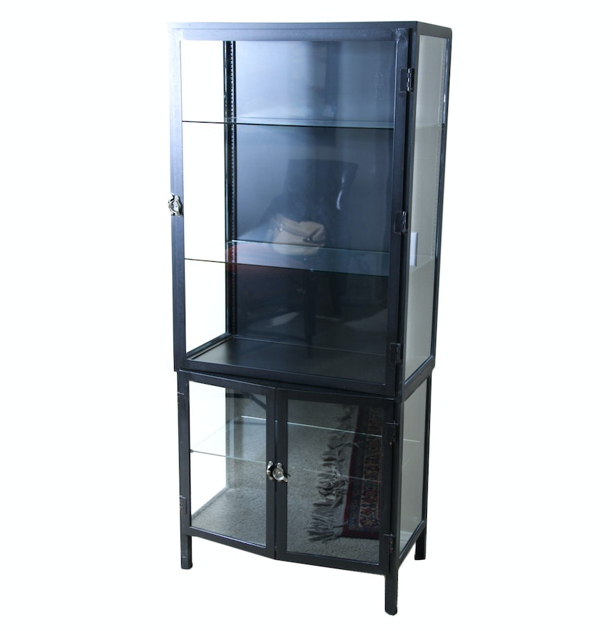 Metal Glass Display Cabinet Metal And Glass Display Cabinet Ebth