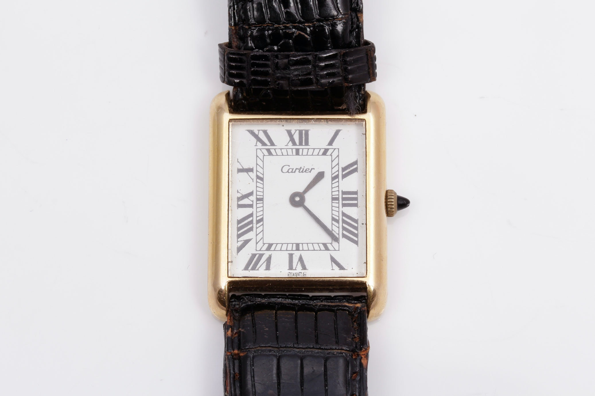 Vintage Cartier 18K Electroplated Yellow Gold Watch