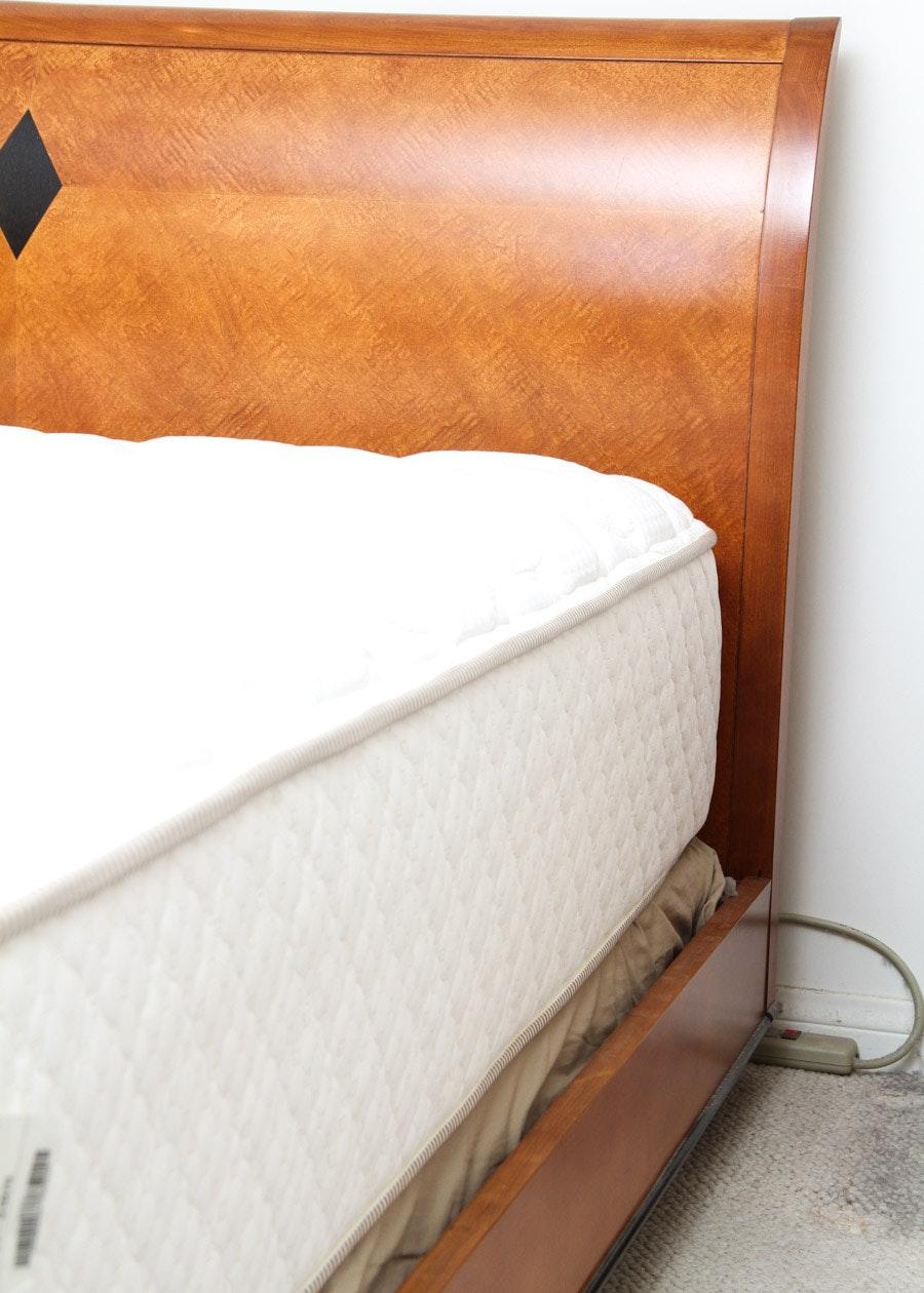 National Mt Airy Biedermeier Style Queen Sleigh Bed Ebth