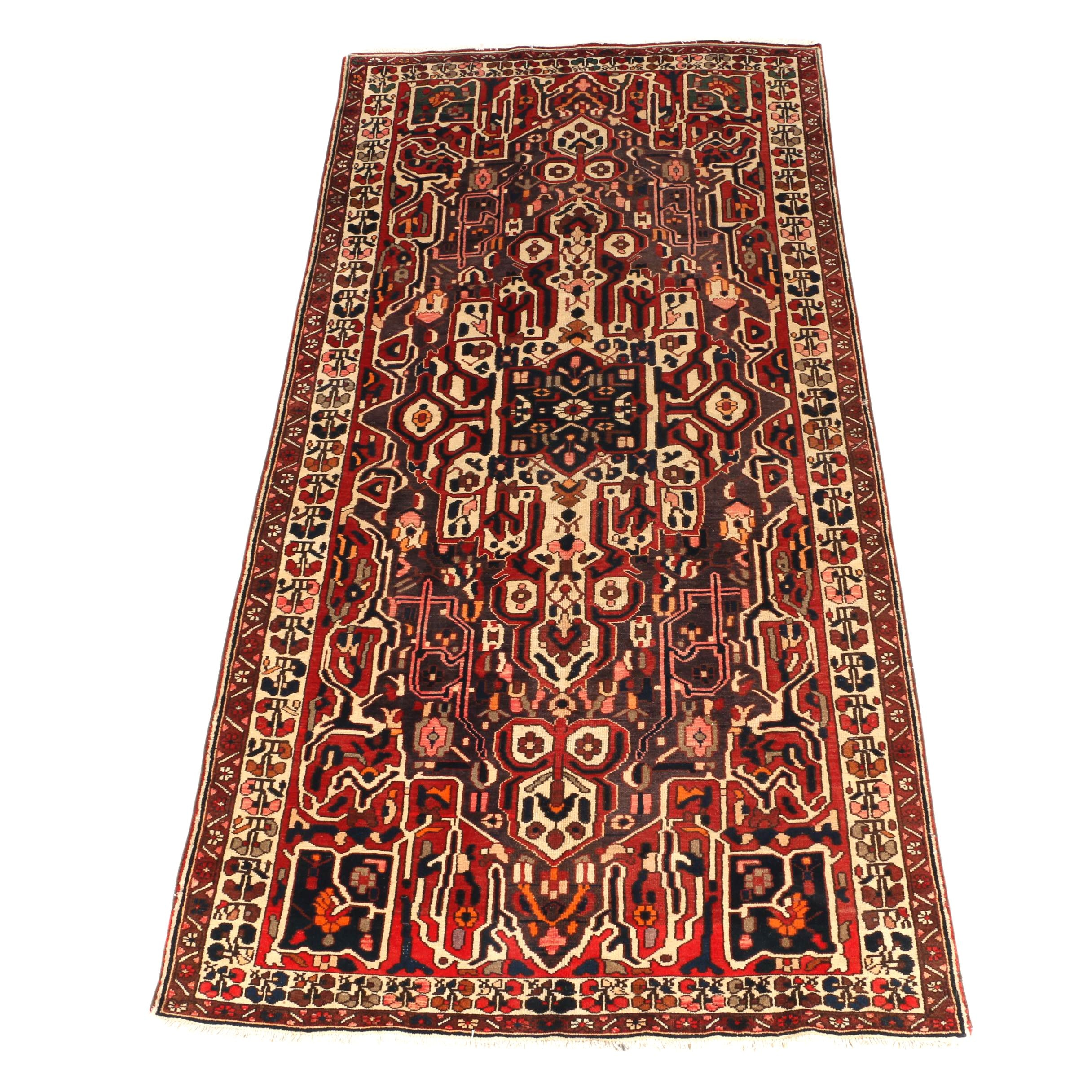 Artistic Hand-Knotted Bakhtiari Area Rug