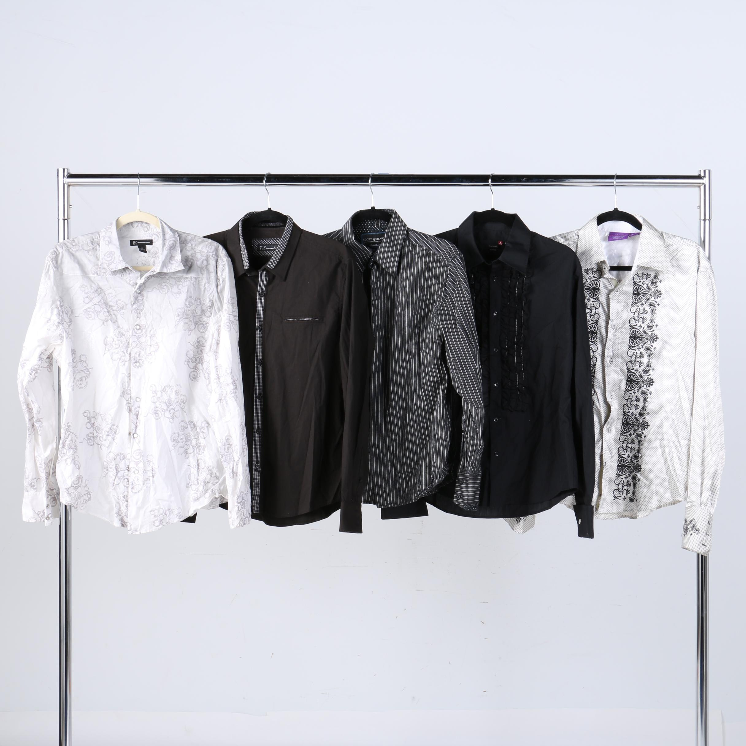 Men's Button Ups Including 7 Diamonds and Scott Weiland