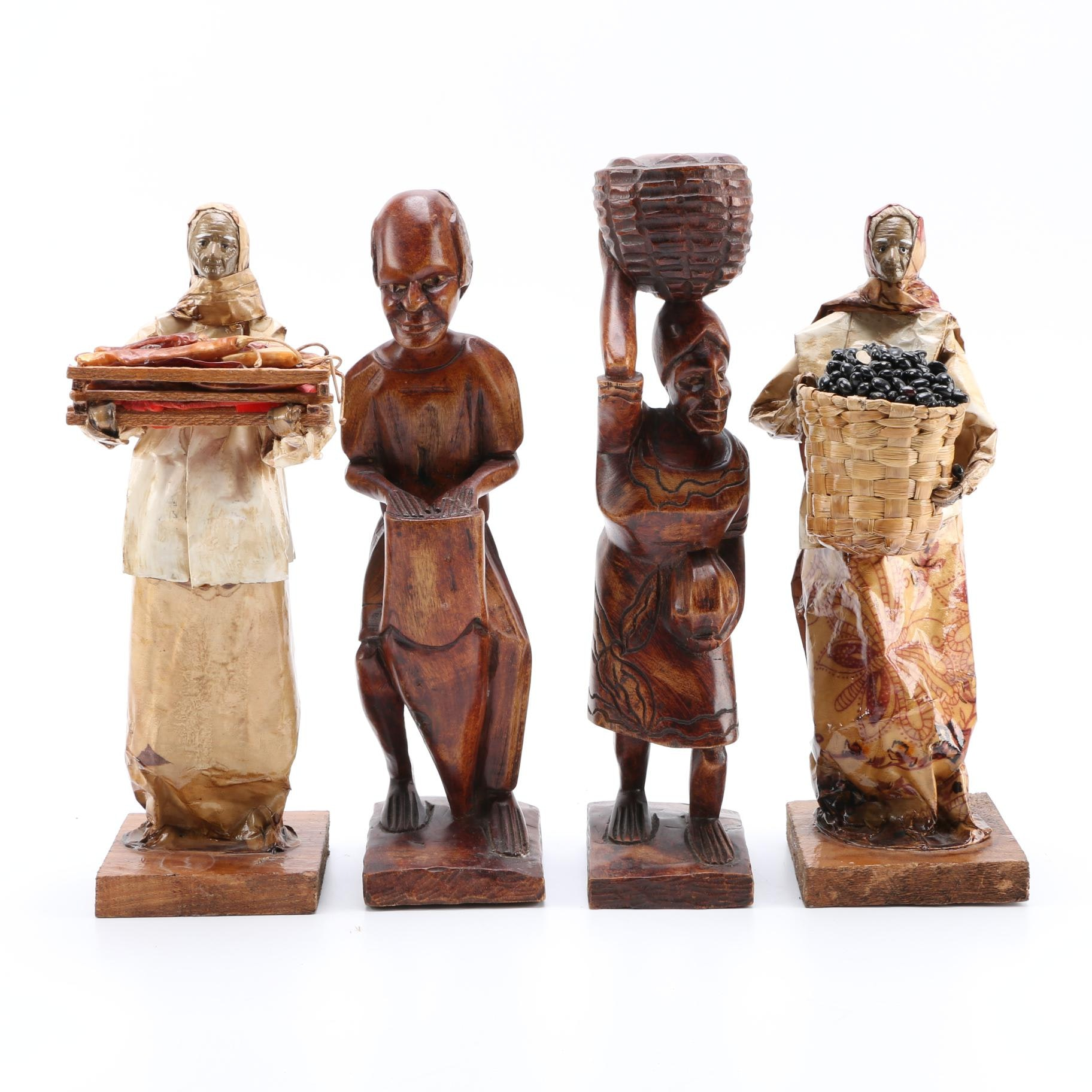 Wooden and Papier-mâché Figurines