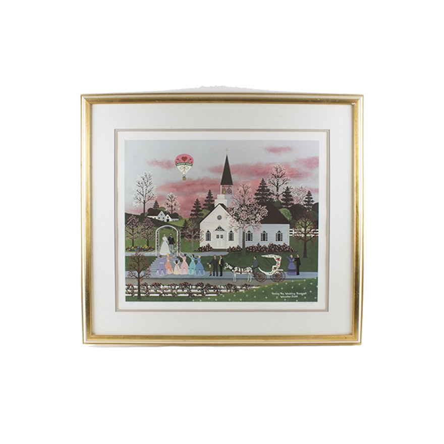 Jane Wooster Scott Signed LE Offset Lithograph \