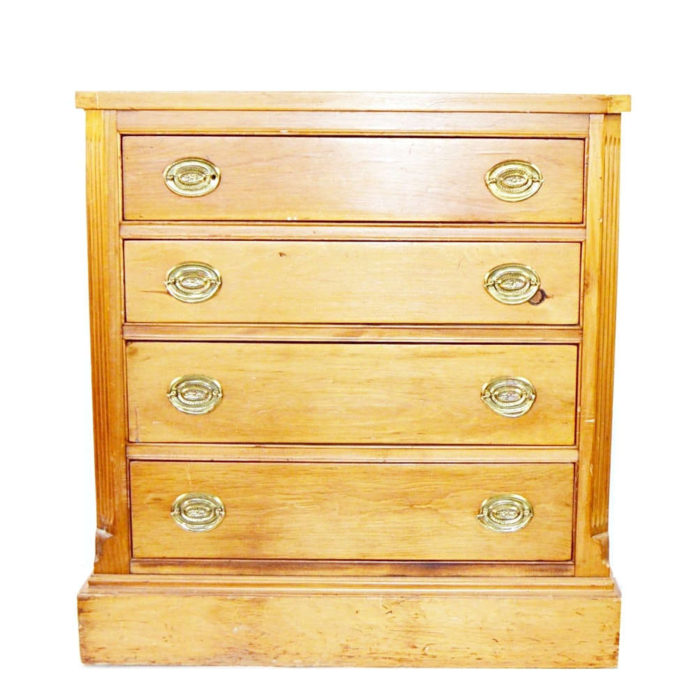 Vintage Hepplewhite Style Maple Chest of Drawers