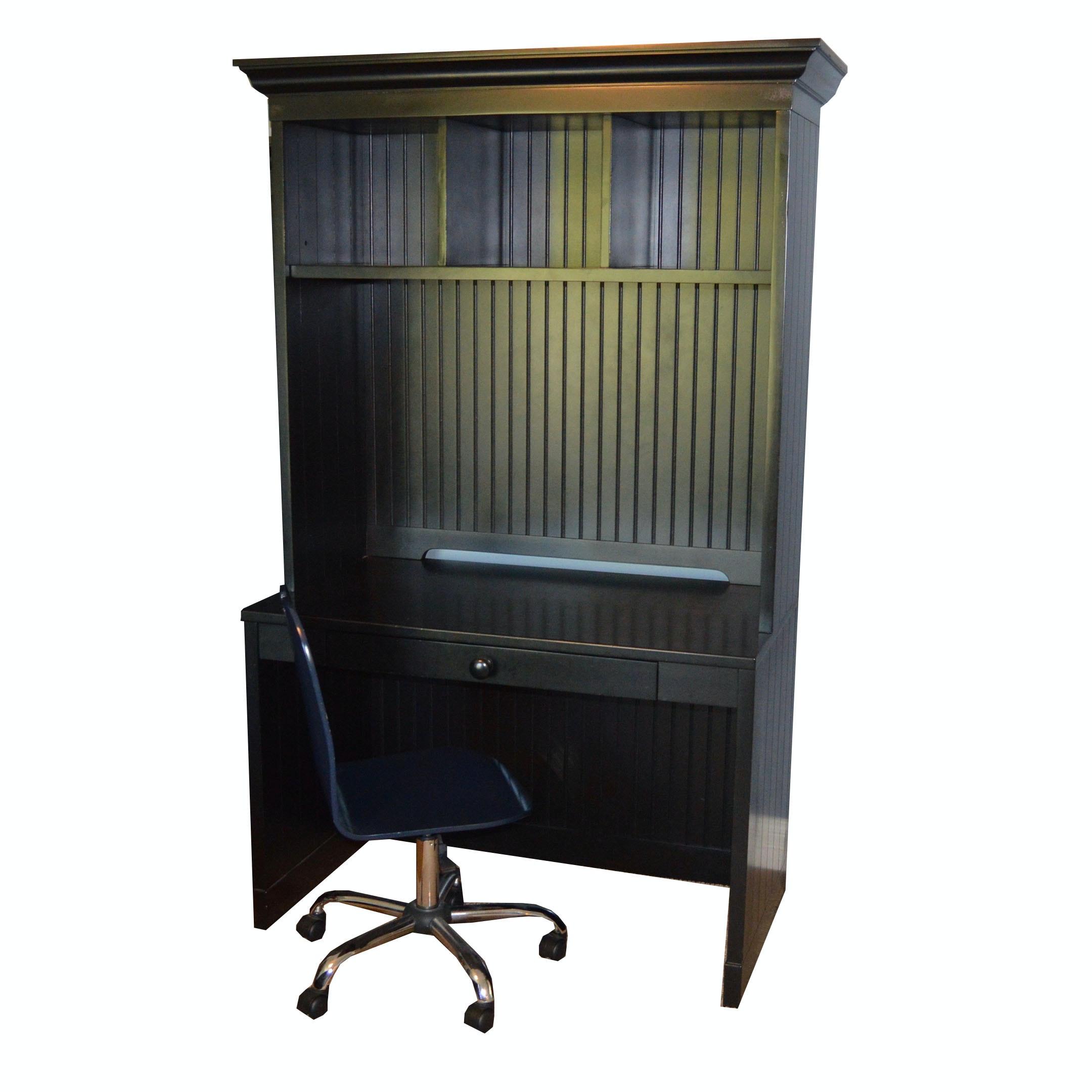 Pottery Barn Desk and Chair in Espresso