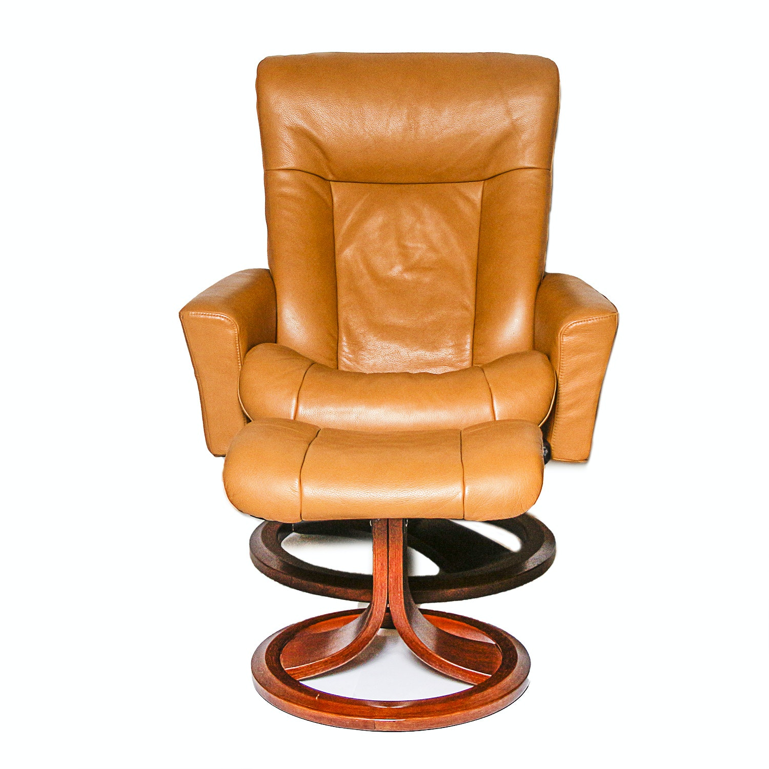 IMG Contemporary Leather Chair and Ottoman