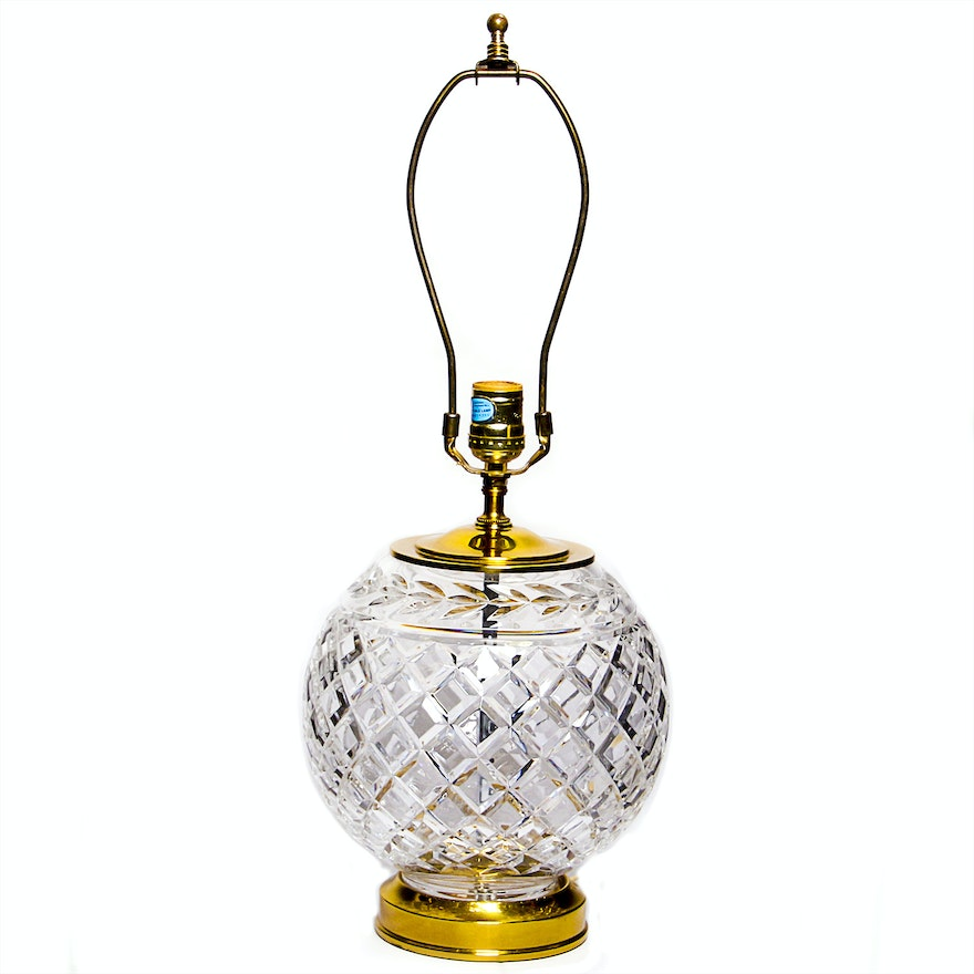 table crystal shades lamp waterford