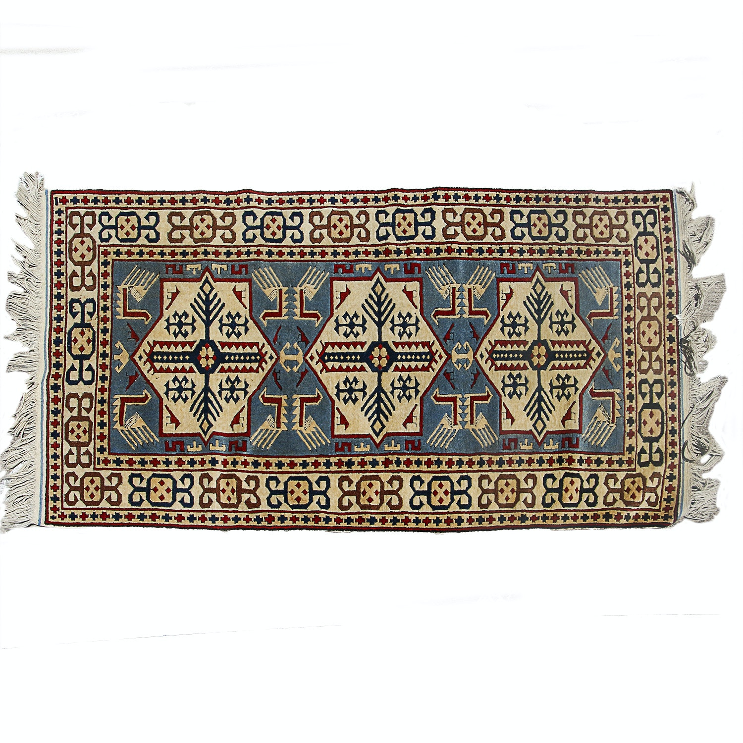 Afghani Persian Hand Knotted Area Rug