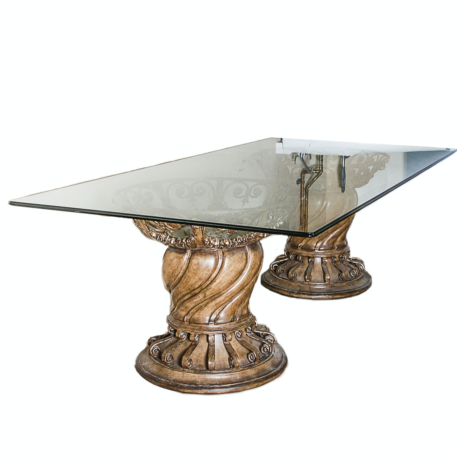 Glass Surface Dining Table