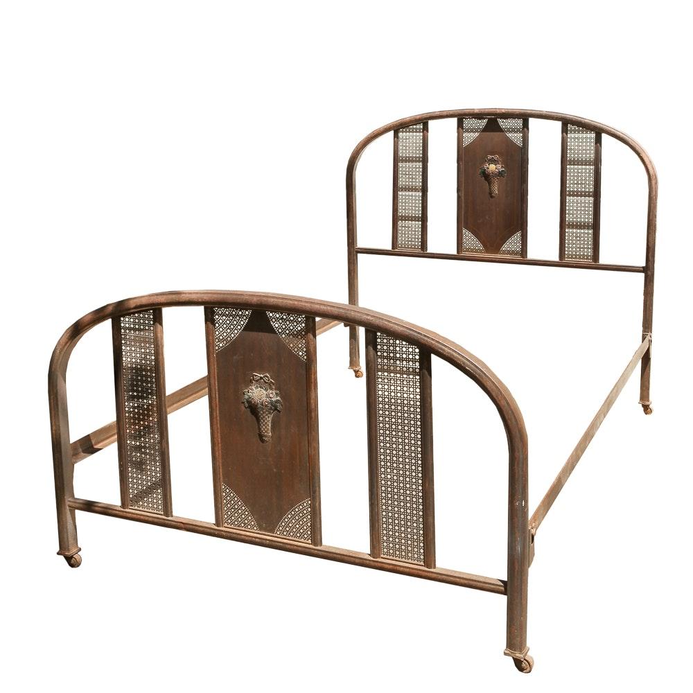 Vintage Full Size Metal Bed Frame Ebth
