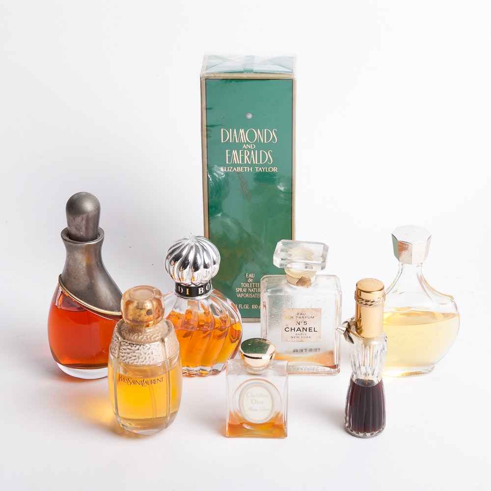Collection of Eight Perfume Bottles