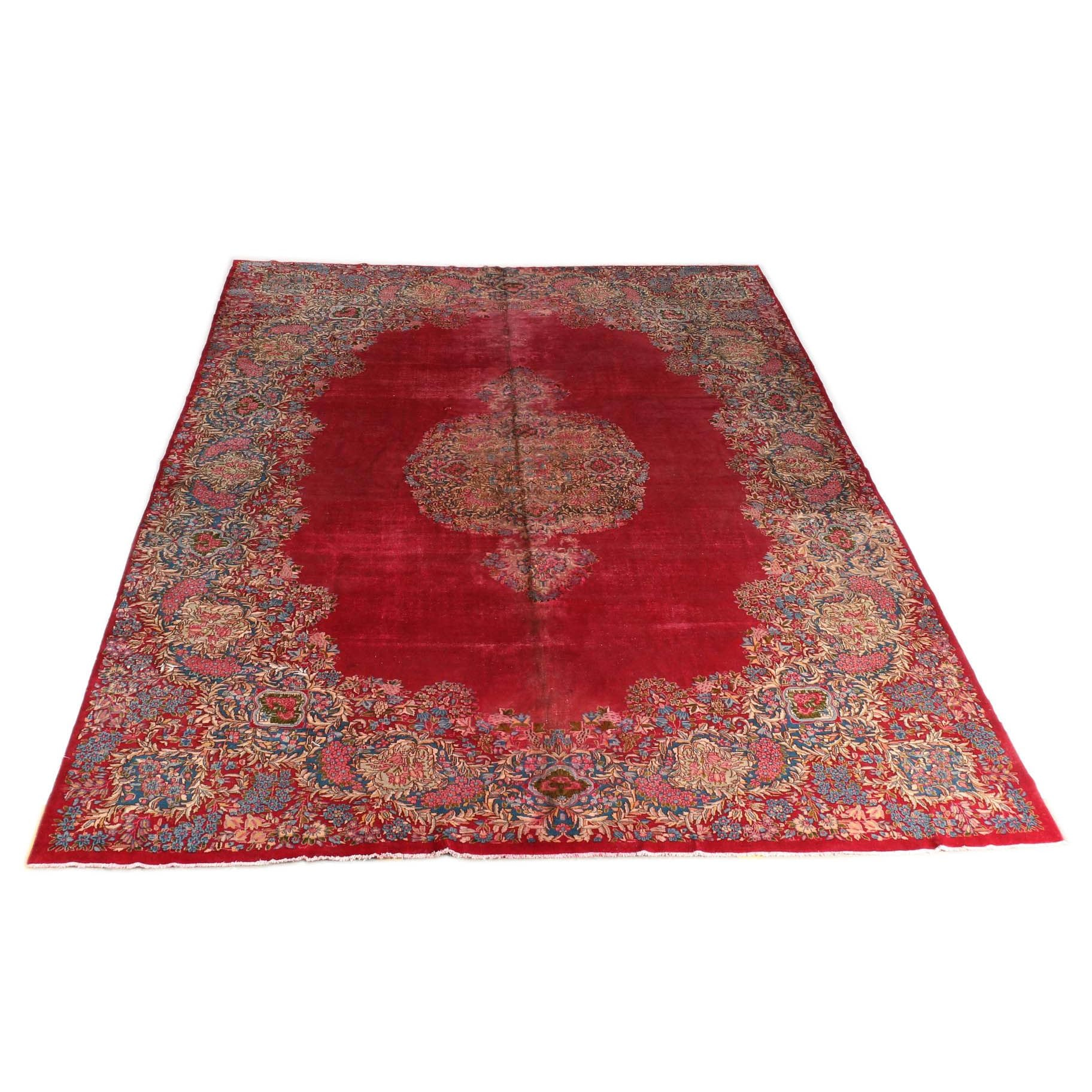 Very Large Hand-Knotted Persian Kerman Rug