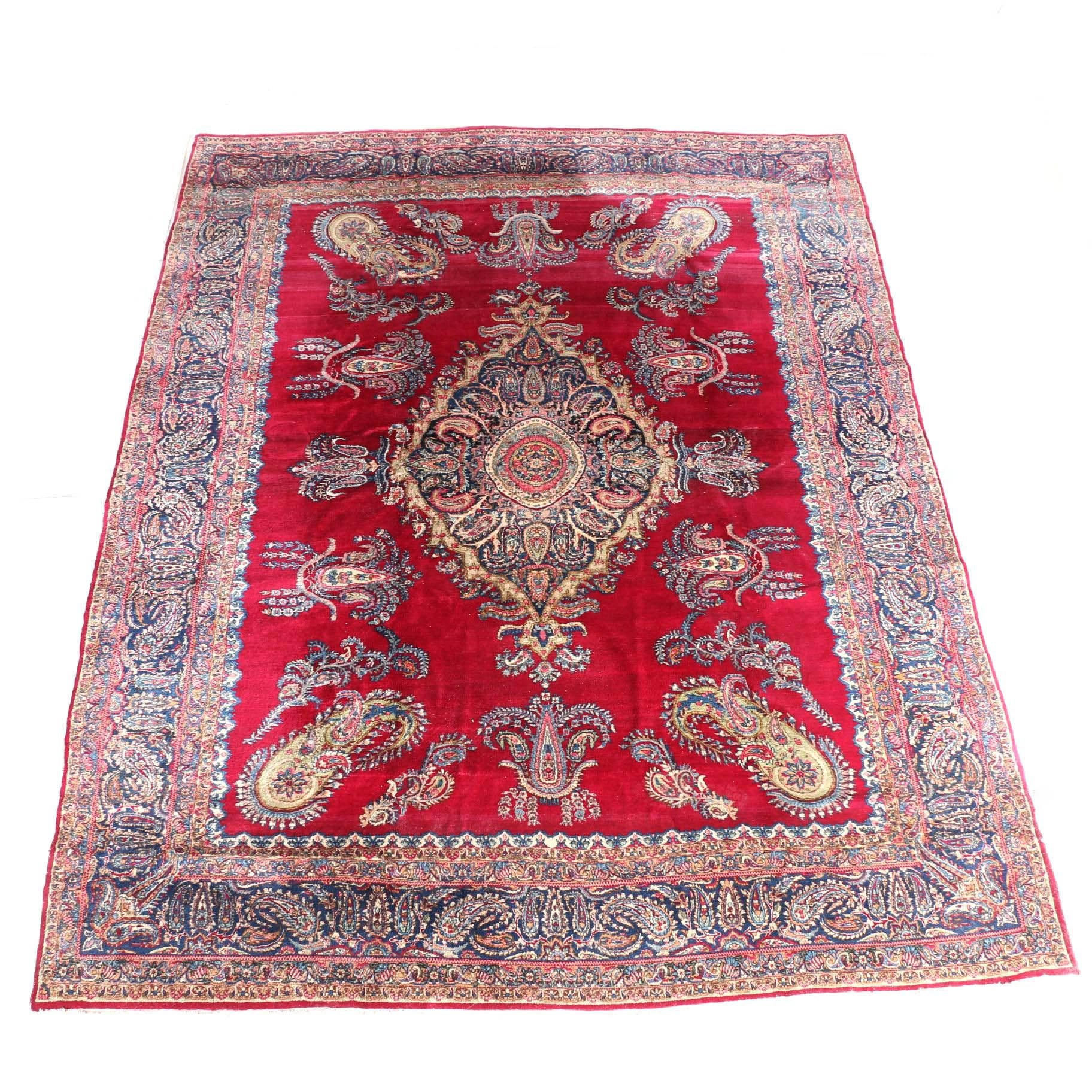 Excellent Hand-Knotted Antique Kerman Area Rug Circa 1920