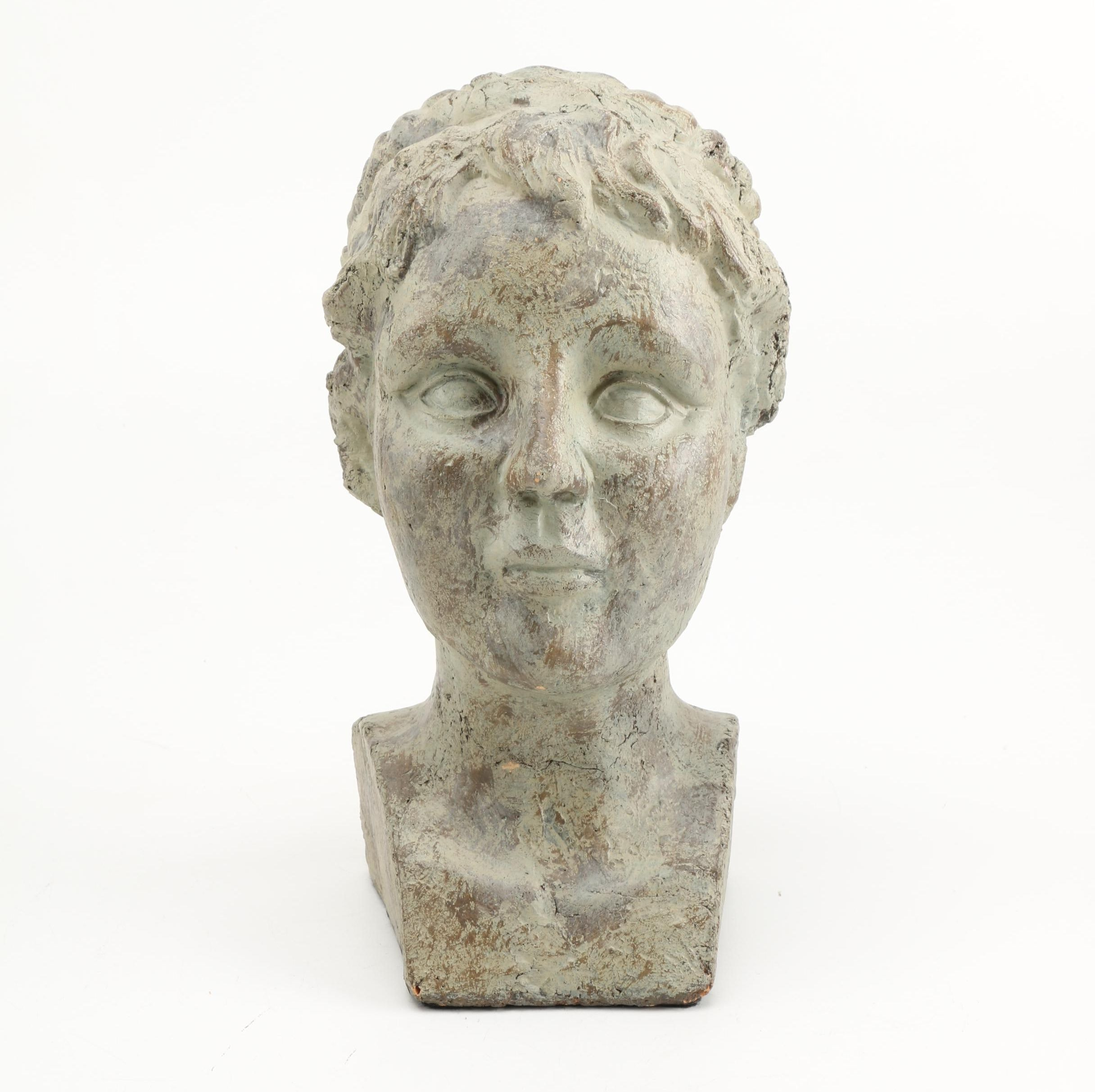 Bust of Woman in Plaster